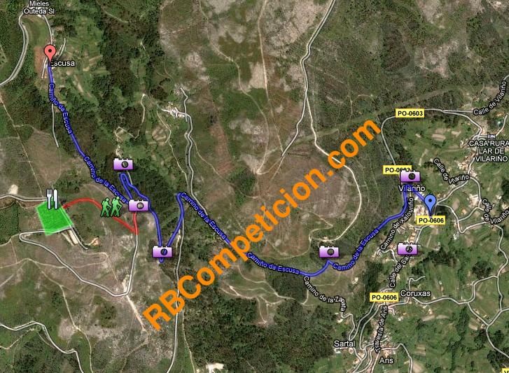 Mapa de trazado Subida a Escusa-Poio